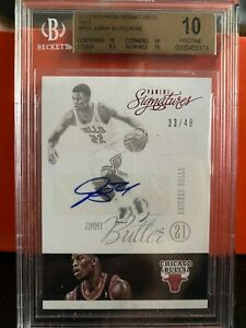 2012-13 Jimmy Butler Panini Signatures RED RC Auto /49 BGS 10 PRISTINE! 🔥POP 1!