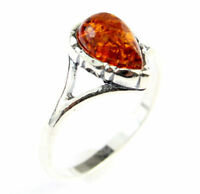 Lovely Baltic Amber & 925 Sterling Silver GL438L - Designer Ring