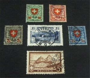 nystamps Switzerland Stamp # 200//209 Used $55   L23y1126