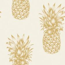 Arthouse Copacabana Pineapple Wallpaper Tropical Fruit Metallic Motif 690901