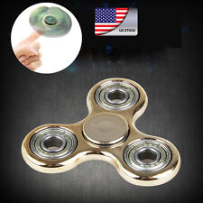 ADHD Anxiety Autism Stress Reducer Fidget Hand Tri Spinner EDC Kid Toy Gold
