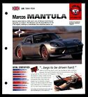 Marcos Mantula (UK 1984-1994) Spec Sheet 1998 HOT CARS All Time Great #5.22