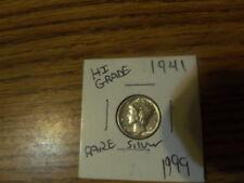 1941 United States Mercury Dime  High grade Rare