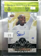 2019 National Upper Deck VIP Prominent Cuts Serena Williams Auto #'d 1/5 SSP!