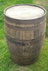 SCOTCH WHISKEY OAK WOODEN BARREL GARDEN PLANTER HOME BAR BOURBON BREW ORNAMENT