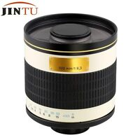 500mm f/6.3 Telephoto Zoom Mirror Lens for Canon DSLR Camera +T2 Mount Adapter
