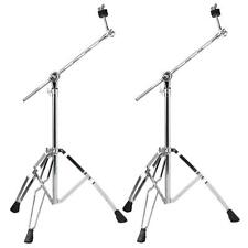 2 Pack Cymbal Boom Stand Drum Hardware Percussion Double Braced Tripod Holder