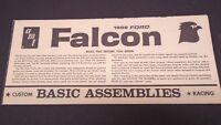 AMT 1968 FORD FALCON PLASTIC MODEL CAR INSTRUCTION SHEET 5128-6
