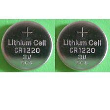 2 x BATTERIA CR1220 [ex CR1225) SCOCCA GUSCIO CHIAVE 3 TASTI SMART 2001 AL 2007