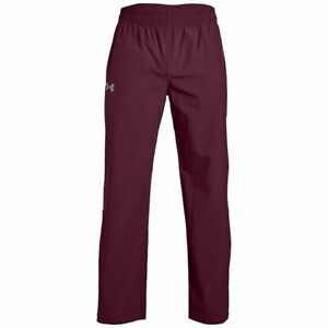 NWT $59.99 Under Armour Storm Burgundy Squad Woven Warm Up Pants Heat Gear 4XL