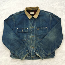 VINTAGE Polo Country Ralph Lauren Flannel Lined Denim Trucker Jacket Size L