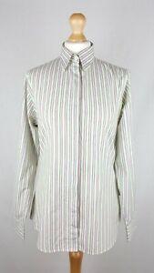 Womens Barbour Long Sleeve Shirt UK Size 10 Regular Fit Striped 100% Cotton