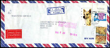 Israel 1988 Registered Commercial Cover To Austria #C39220