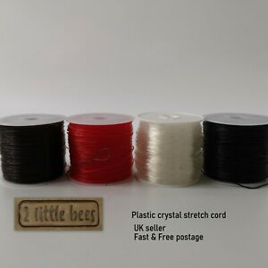 Crystal Elastic Stretchy Beading Thread Clear Black Red Brown 0.8mm