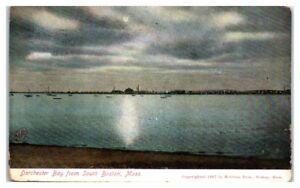 1907 Dorchester Bay from South Boston, MA Postcard