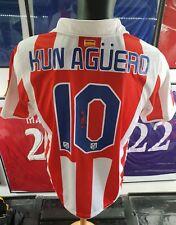 maillot jersey camiseta trikot maglia shirt atletico Madrid aguero 2010 2011 M