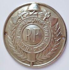 PLAQUE AUTOMOBILE FEDERATION NATIONALE DES SAPEURS POMPIERS FRANCAIS casque 1930