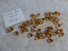 lot de 50 perles forme  LARME  GOUTTE en VERRE DE BOHÈME jaune  topaze AB