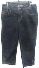 Women's Nine West Blue Denim Cropped Jeans Size 6 Regular