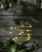 Solar LED Spiral Lantern Light Decorative Garden Ornament