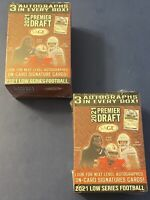 2021 Sage Premier Draft Low Series Football Lot 2 Blast Box 6 Autographs A6593