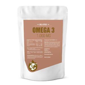 500 Kapseln Omega 3 Fischöl á 1000mg Kapseln - EPA DHA Lachsöl Beste Qualität!