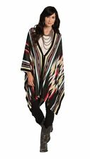 Womens Country Western Poncho Shawl Cowgirl Cape Ruana Aztec Ladies Coat Jacket