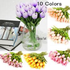 10X Artifical RealTulips Flower Bouquet Wedding Party Home Decor NEW d6