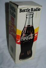 Vintage Coca-Cola Bottle Radio, NRMT with original box