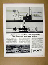 1962 Solar Gas Trubine EFL Package heat power system diagram vintage print Ad