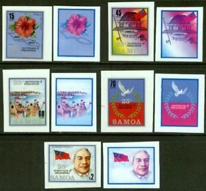 Samoa 1987 Independence PROGRESSIVE MASTER PROOF sets