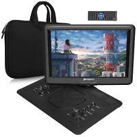 """19"""" Portable DVD Player with 16"""" Large Swivel Screen Battery USB SD AV+ handbag"""