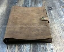 Vintage Diaries Journals notebook genuine leather loose leaf brown D0703