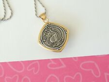 Brighton PINK CITY Square PEACOCK Gold Silver Pendant Necklace New tags $88