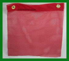 18 X 18 RED Grommet Flag Jersey Oversize Wide Load Fray Resistant Knit Polyester