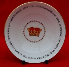 QUEEN ANNE CHINA:  PRINCESS ANNE TO CAPT. MARK PHILLIPS PIN DISH - GREAT CONDIT!