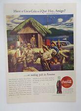 Original Print Ad 1944 COCA-COLA Coke Have a Que Hay Amigo WWII GIs