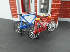 Mens and Womens Bicycles 2 Pc Set Miniatures 1/24 Scale G Scale Diorama Items