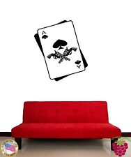 Wall Stickers Vinyl Decal Cards Poker Gambling Revolver z1181