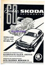SKODA -- 60 anni automobile Skoda -- Pubblicità di - 1959 -