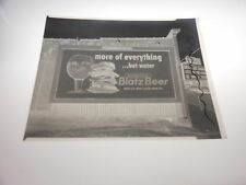 #1257-A PHOTO NEGATIVE - 1956 BLATZ BILLBOARD - MORE OF EVERYTHING BUT WATER