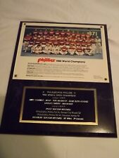 """12"""" X 16"""" PLAQUE -PHILLIES  1980 WORLD SERIES CHAMPS!! - AWESOME!!"""