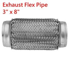 "Universal Exhaust Flex Pipe Stainless Steel Double Braid 3"" x 8"" 76mm x 195mm"