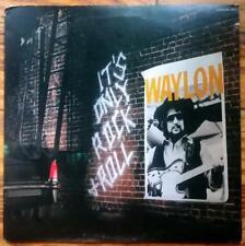 "WAYLON JENNINGS ""It's Only Rock & Roll"" USED 1983 RCA LP VG+/VG+"