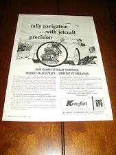 1958 KEARFOTT RALLY COMPUTER   ***ORIGINAL VINTAGE AD***