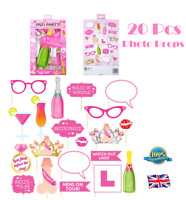 20Pcs HEN PARTY PHOTO PROPS SET Selfie Booth Party Girls Wedding Night Accessory