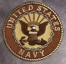 Embroidered Military Patch U S Navy Emblem NEW desert