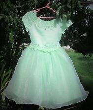 MINT GREEN FORMAL / PAGENT Girl dress SIZE 4