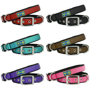 Premium Adjustable Fleece Nylon Dog Collar by Toto & Otis