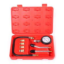 8Pcs Petrol Engine Cylinder Pressure Tester Car Compression Gauge Test Tool Kit